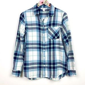 Old Navy Plaid Flannel The Classic Shirt